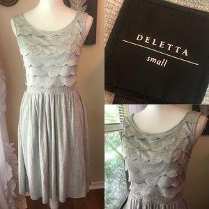 anthropologie silver deletta dress